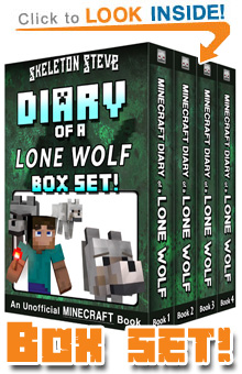 Diary of a Minecraft Lone Wolf! All FOUR Books in ONE! Click to Learn More...