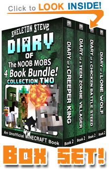 Read the Noob Mobs Box Set Sample Pack (All Second Books of FOUR SERIES) on Amazon NOW! Free Minecraft Book on Kindle Unlimited!