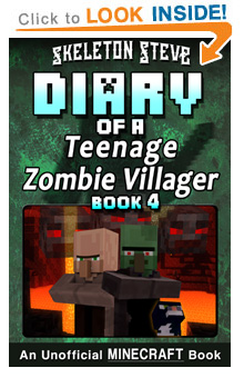 Read Diary of a Teenage Minecraft Zombie Villager Series Book 4 on Amazon Today! Free Minecraft Book on Kindle Unlimited!
