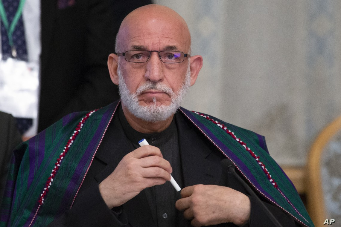Former Afghan President Hamid Karzai prepares to attend a meeting in Moscow, Russia, May 28, 2019.