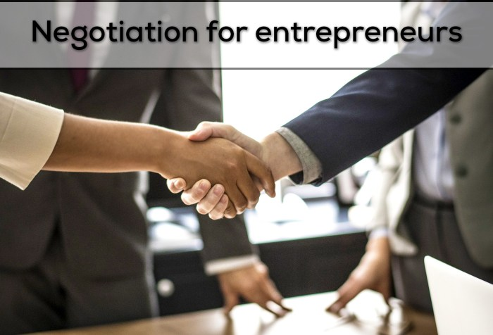 MOOC: Negotiation for entrepreneurs