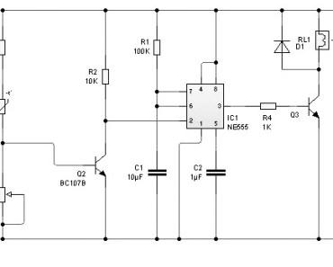 rangkaian sensor suhu sederhana