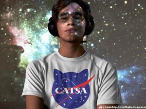 CATSA shirt - cats in space shirt