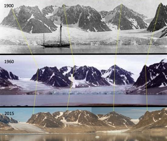 Waggonwaybreen glacier in Svalbard Norway