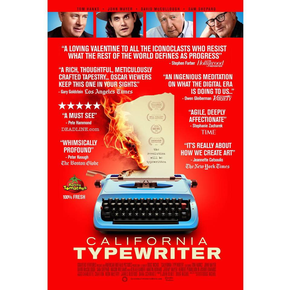 CALIFORNIA TYPEWRITER features Tom Hanks, John Mayer, Sam Shepard