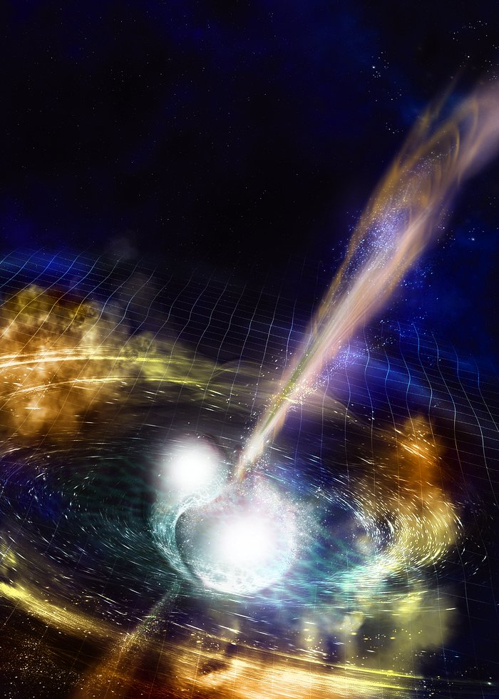 Merging neutron stars scatter gold & platinum into space: Images are beautiful