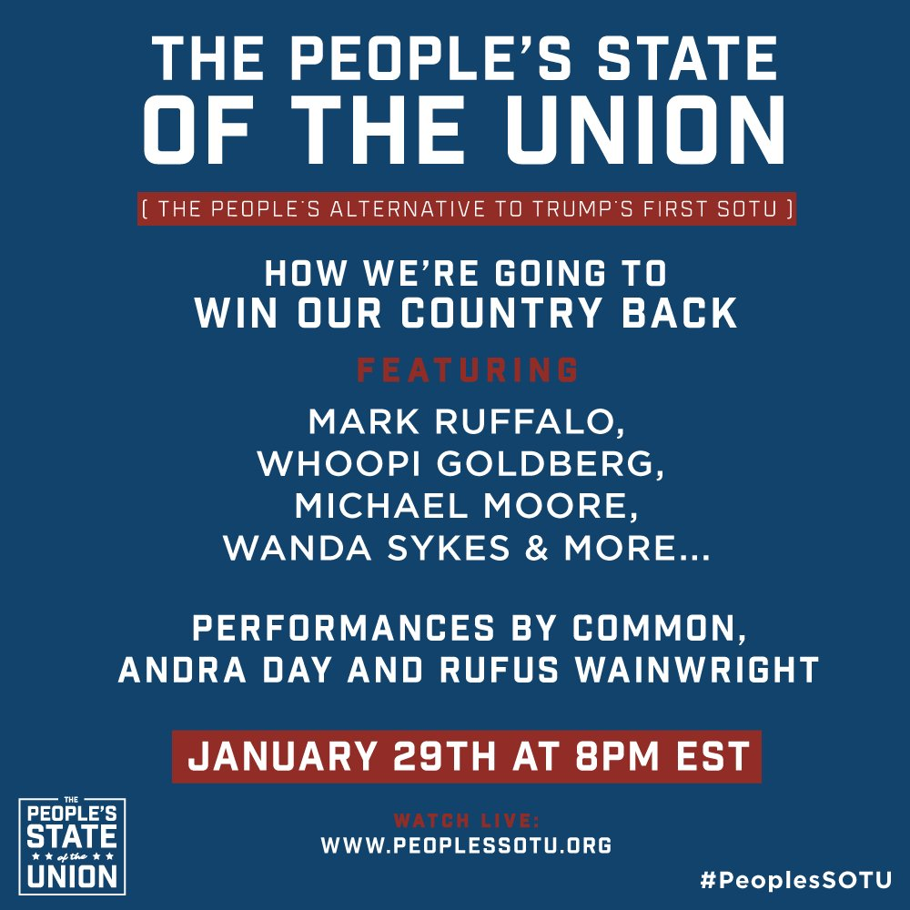 People's State of the Union Resistance Event to be Livestreamed