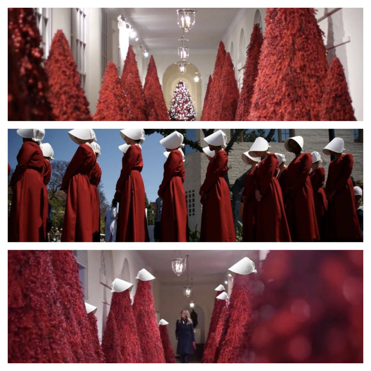 Melania S Red Christmas Trees Inspire Memes Twitter Funnies
