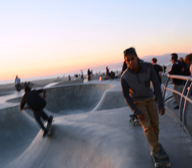Open Window At Dusk: Skateboarders At Dusk. : NICOLE COHEN