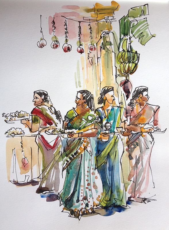 Vignettes From An Indian Wedding Urban Sketchers
