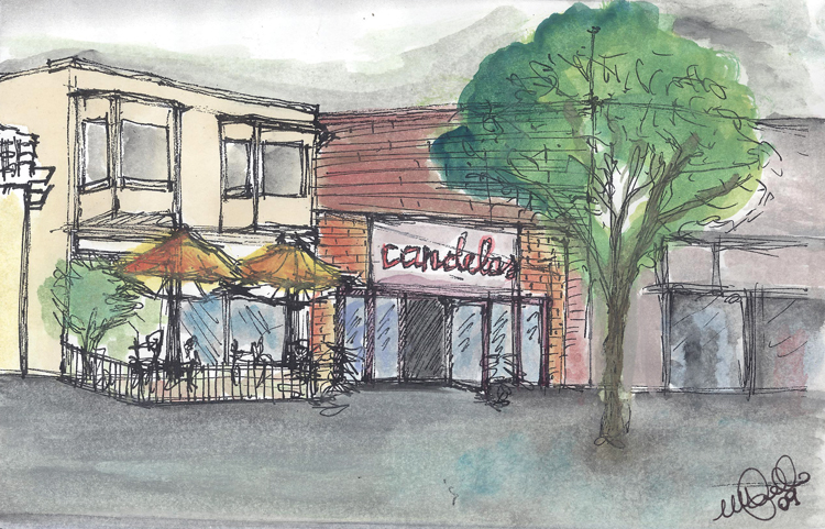 Candelas Restaurant- Watercolor
