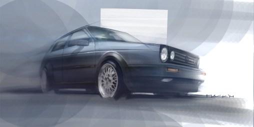 Industrial Design Sketch - Florian Mack -Golf II