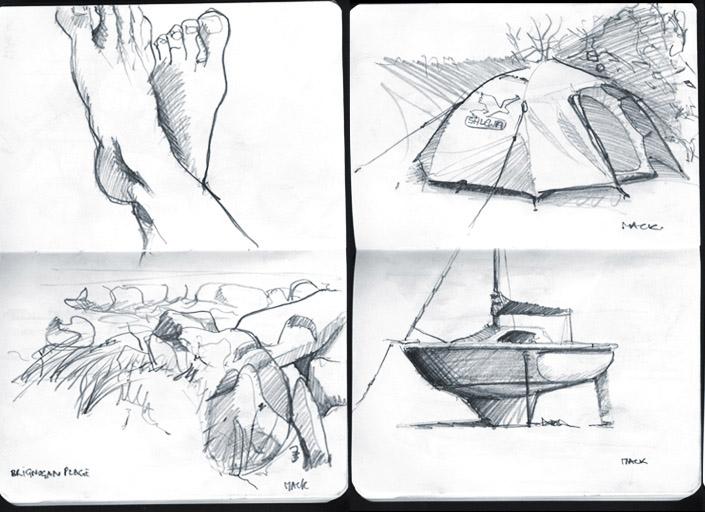 Industrial Design Sketch - Florian Mack - Skizze
