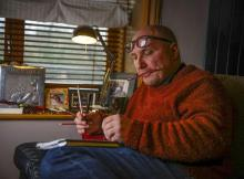 Dave Bradbury sculptor and cartoonist