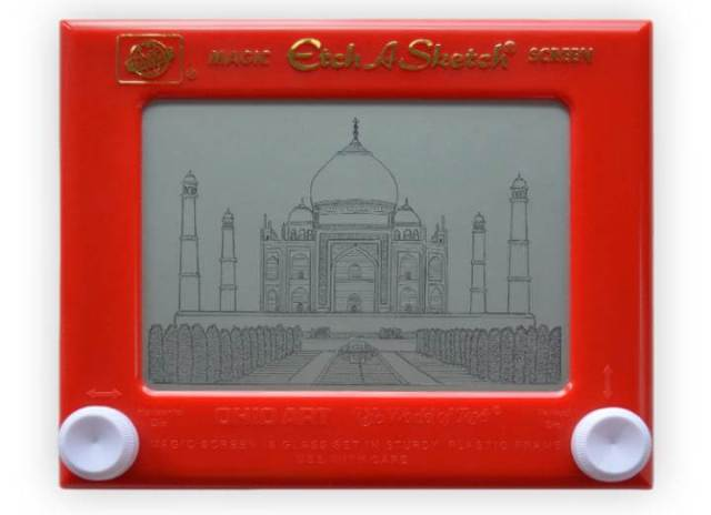 Etch a Sketch Taj Mahal