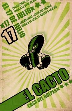 Lucha Libre Cartoon Character Design Illustration Retro Poster Sketchbookjack Cactus Humor Funny
