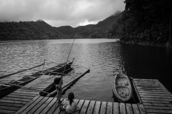 After a long and hard motorbike ride up the roads to Twin Lake you'll find this place of peace and silence – depending on the time you get there... (Twin Lakes, Philippines)
