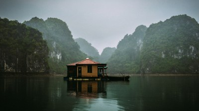 It's crazy to see that all the people that lived here once, had to leave their home. They had to do so because government wants to preserve this nature reserve like it is, ignoring that the people living in the floating villages lived here for decades. Now there are only a few civil servants living here with the mission to show around the tourist. (Ha Long Bay, Vietnam)