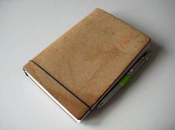 Mein X17-Notizbuch in A6-Größe.