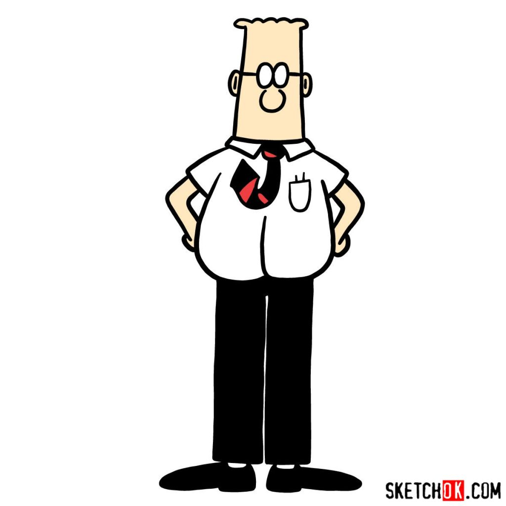 How to draw Dilbert