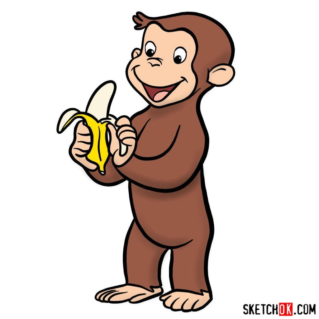 How to draw Curious George