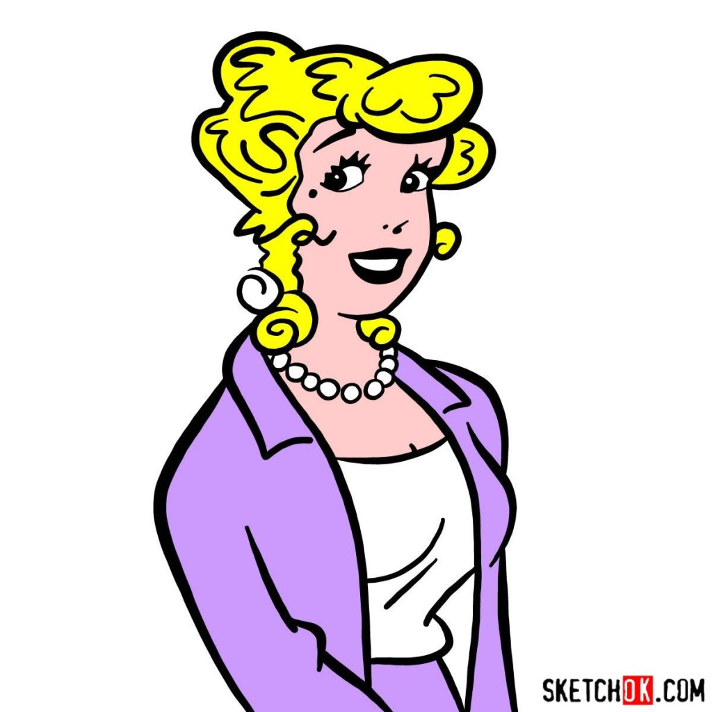 How to draw Blondie (comic strip character)