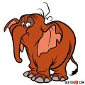 How to draw Tantor the elephant