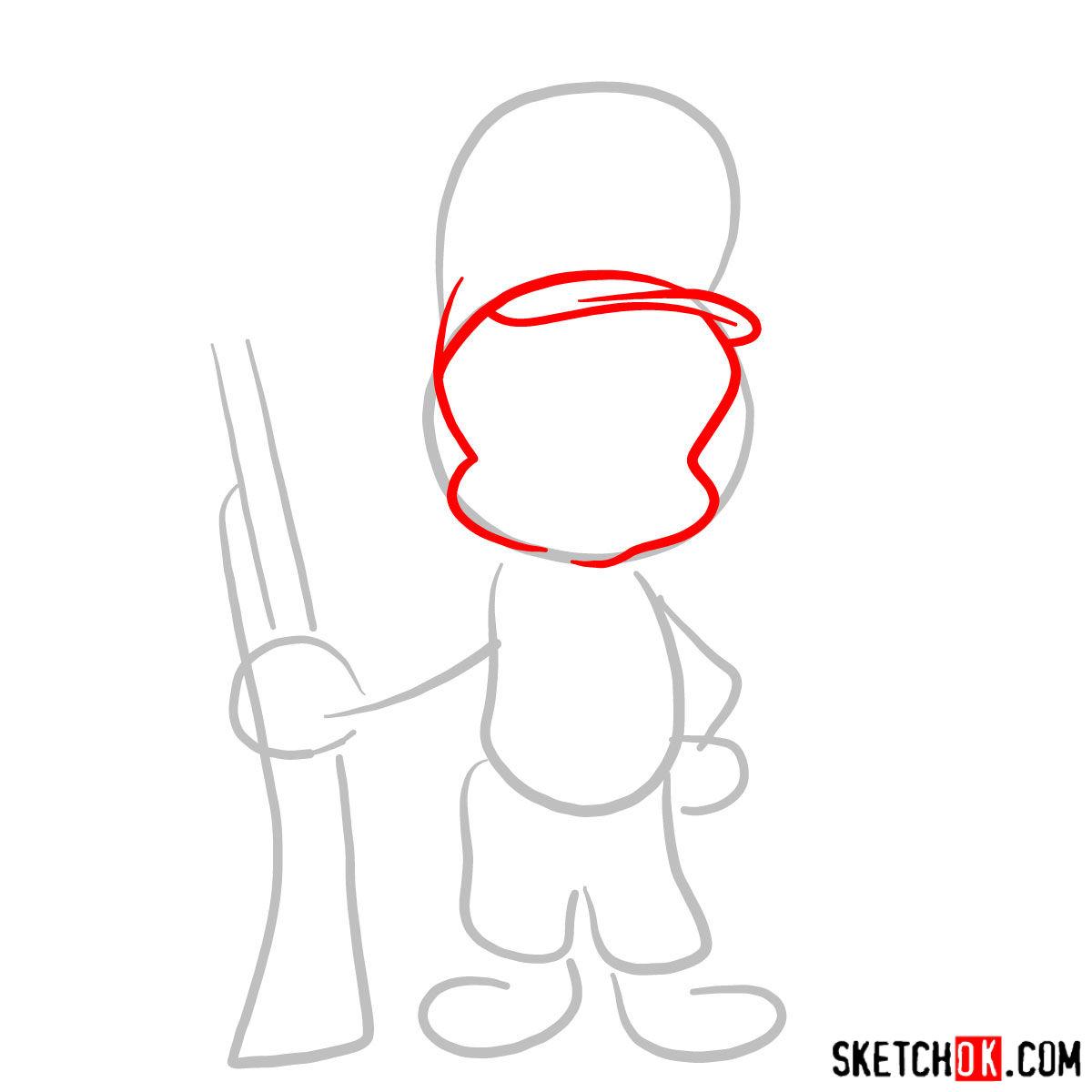 How To Draw Elmer Fudd Egghead