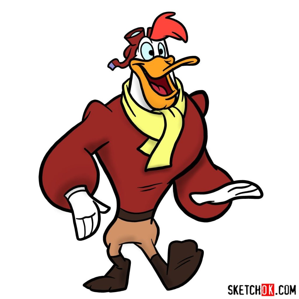 How to draw Launchpad McQuack