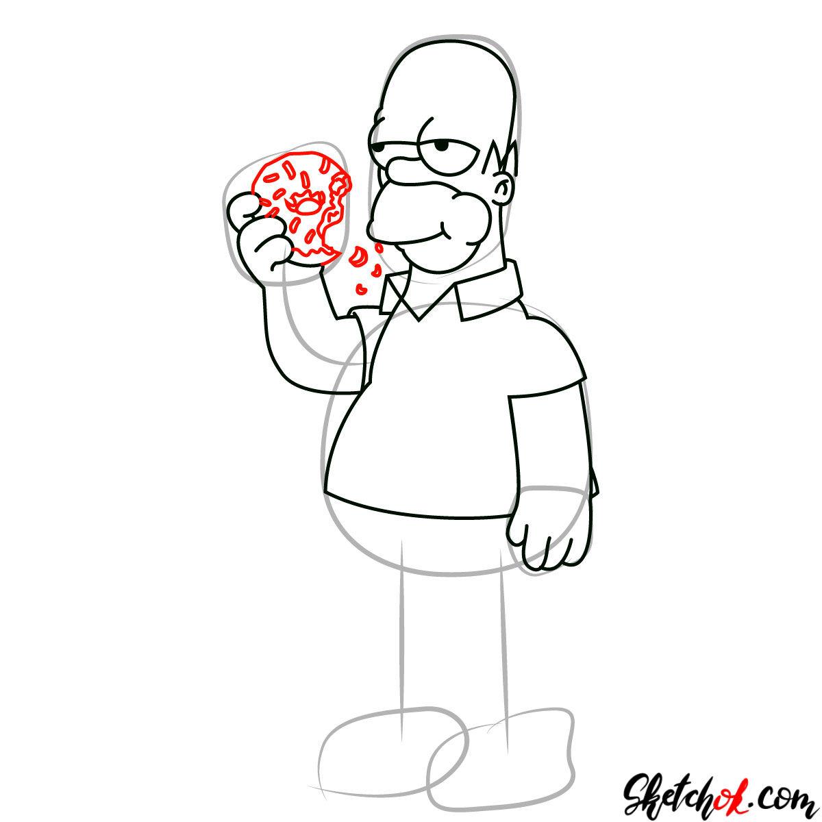 Donut Cartoon Drawing