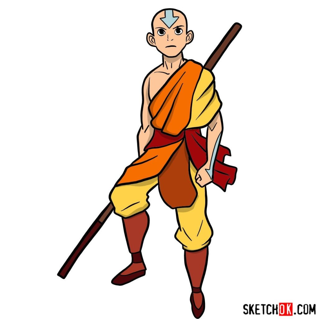How to draw angry Aang