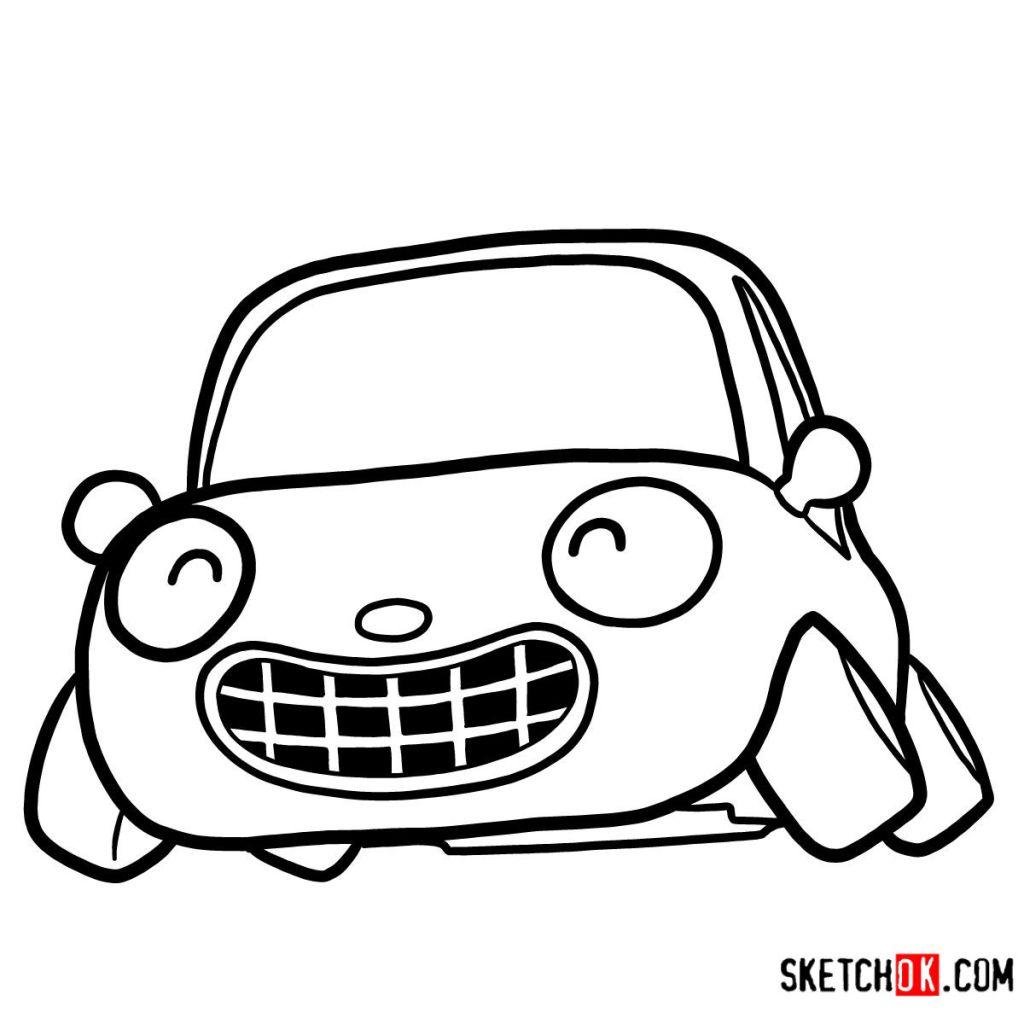 How to draw Tu-Tu the car | Pororo