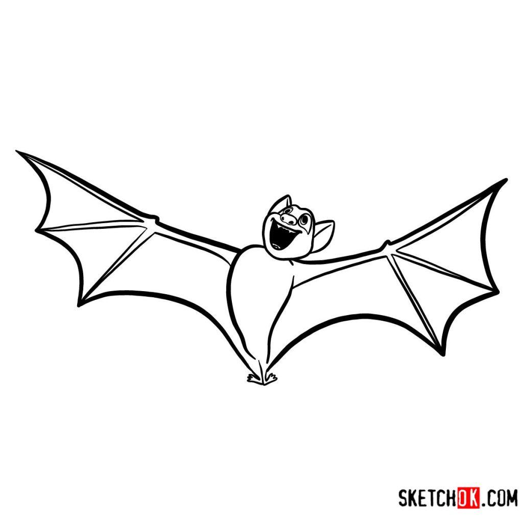 How to draw Bat Dracula | Hotel Transylvania