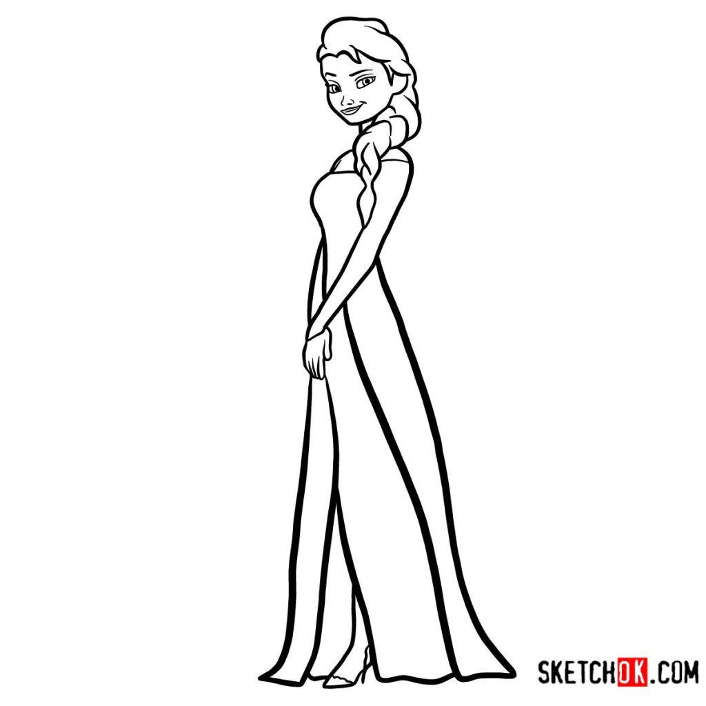 How to draw Princess Elsa | Frozen