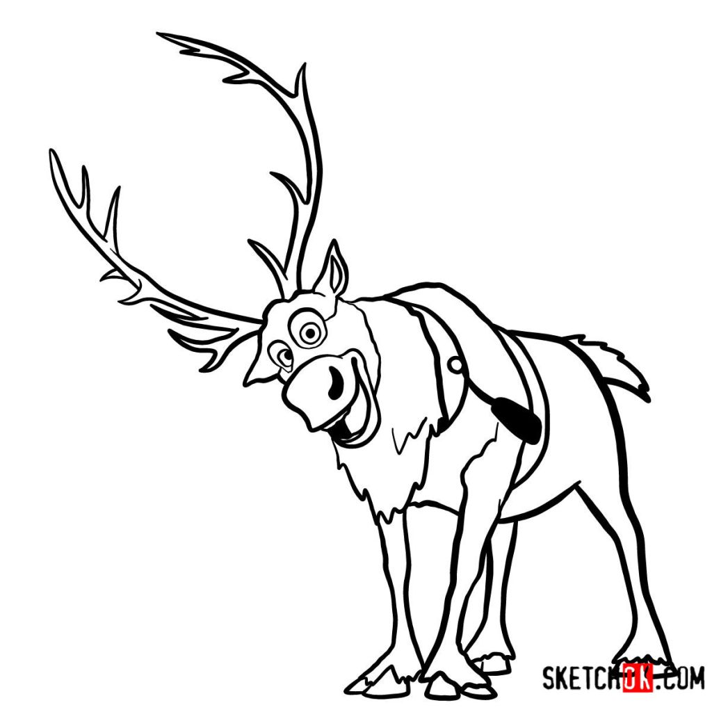 How to draw smiling Sven | Frozen