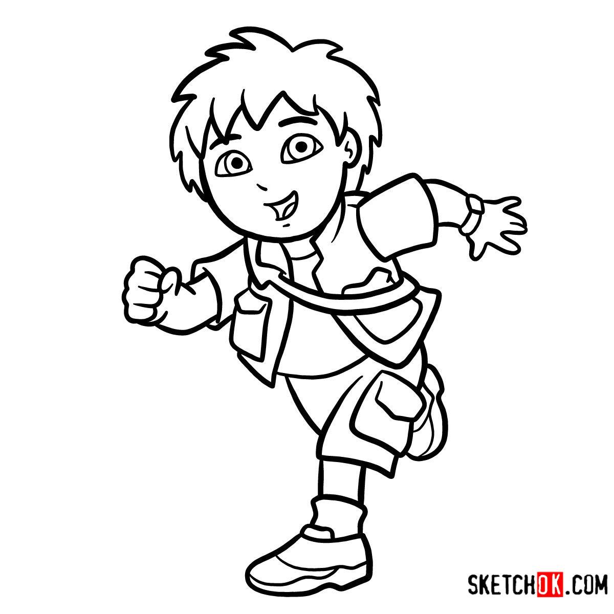 How To Drawgo Dora The Explorer