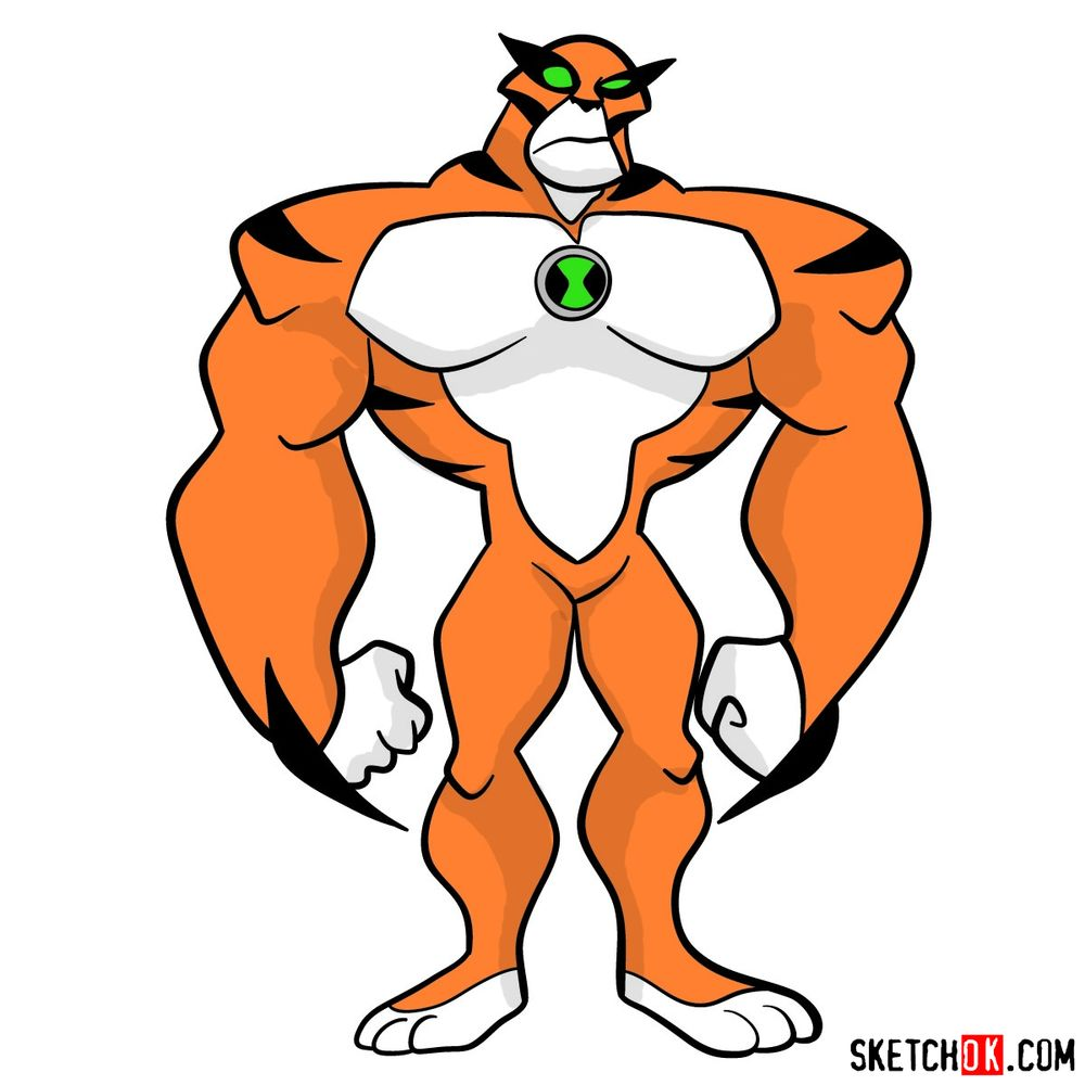 How to draw Rath from Ben 10