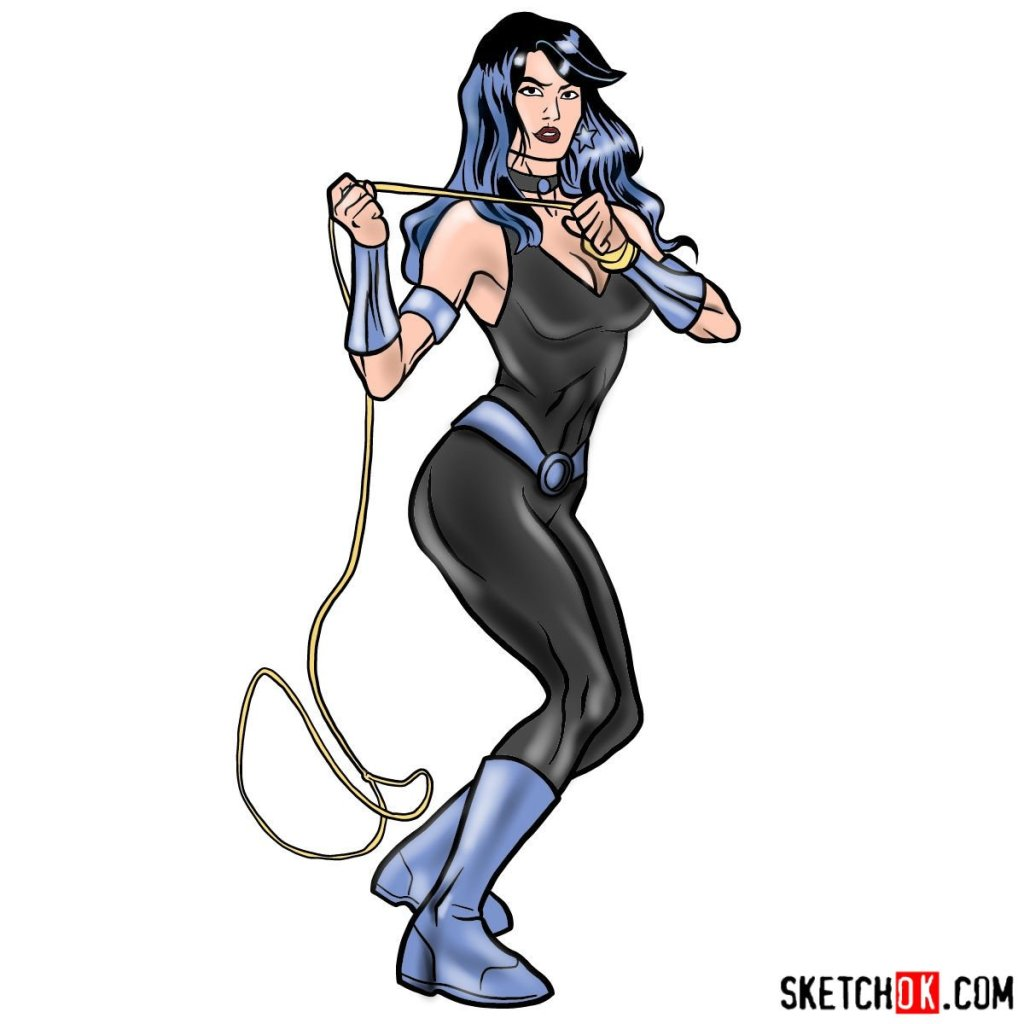 How to draw Donna Troy the Wonder Girl