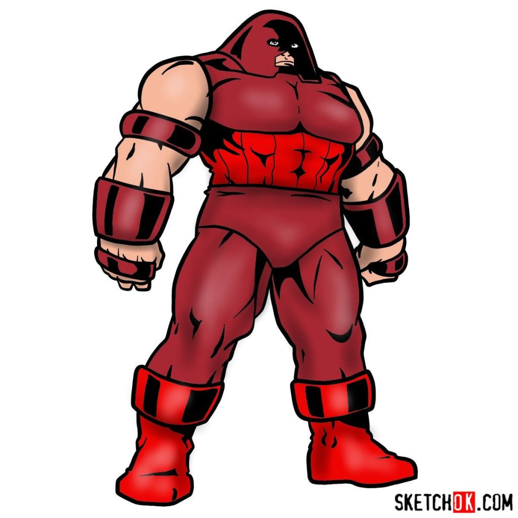 How to draw Juggernaut from X-Men