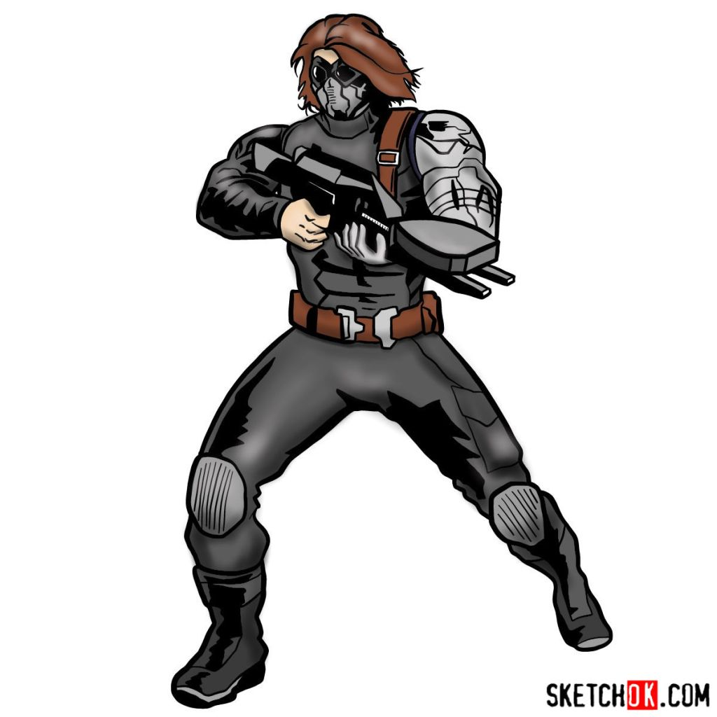 How to draw Bucky Barnes the Winter Soldier