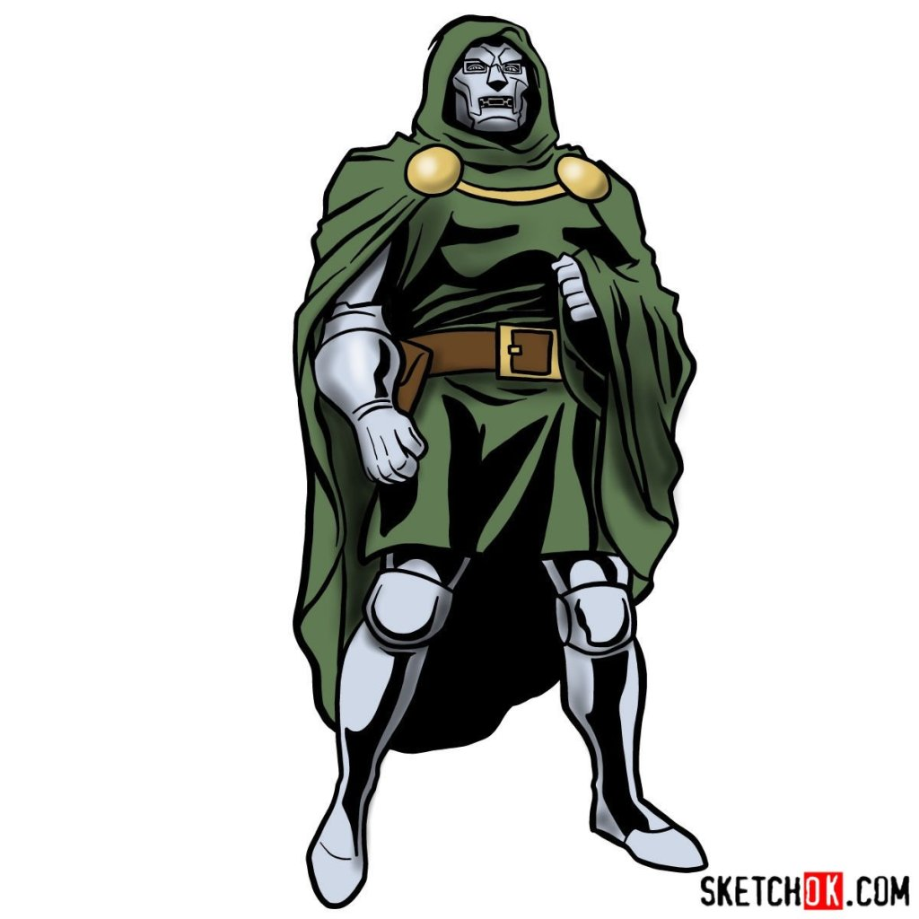 How to draw Doctor Doom, Marvel's supervillain