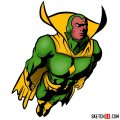 How to draw The Vision from the Avengers film