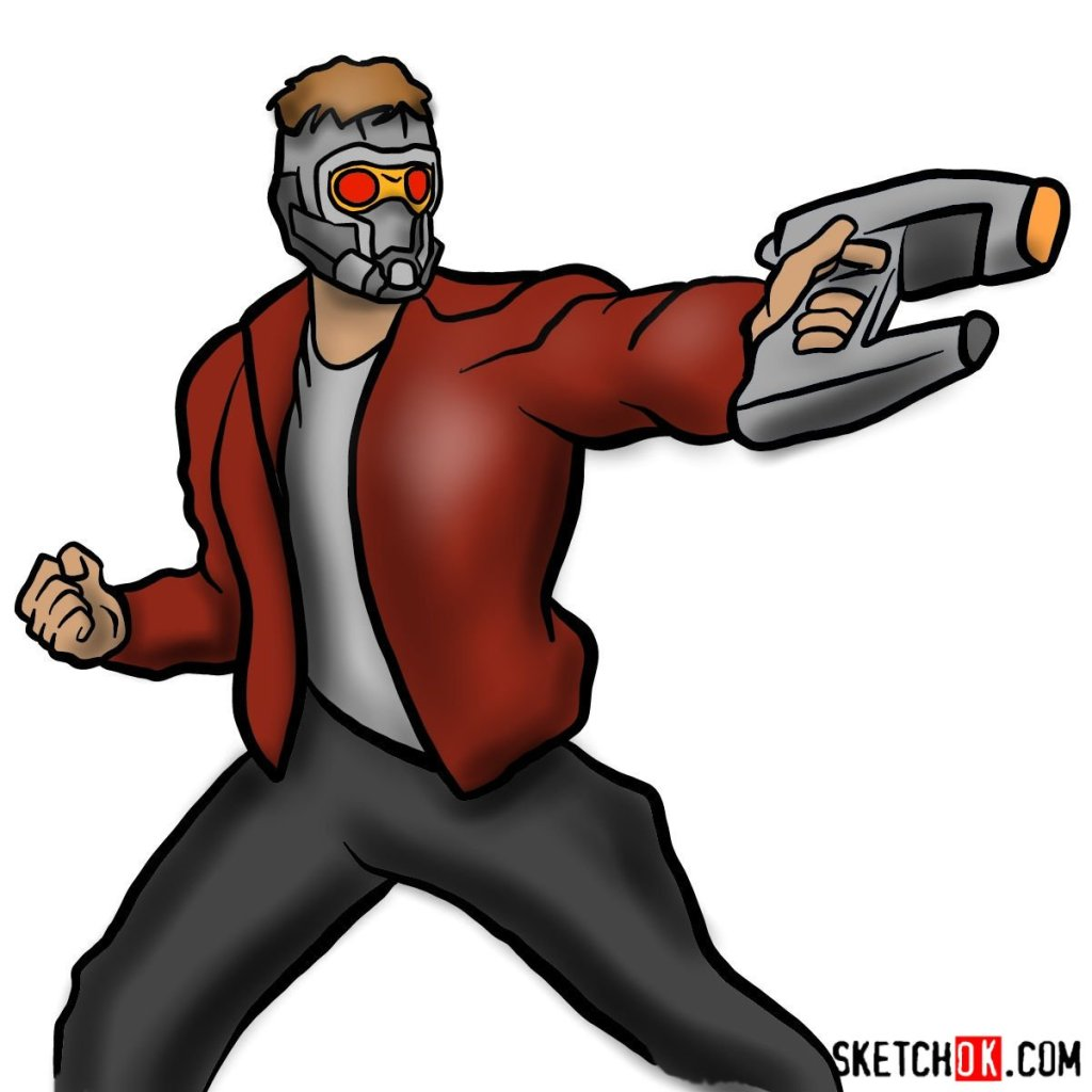 How to draw Star-Lord from Guardians of the Galaxy