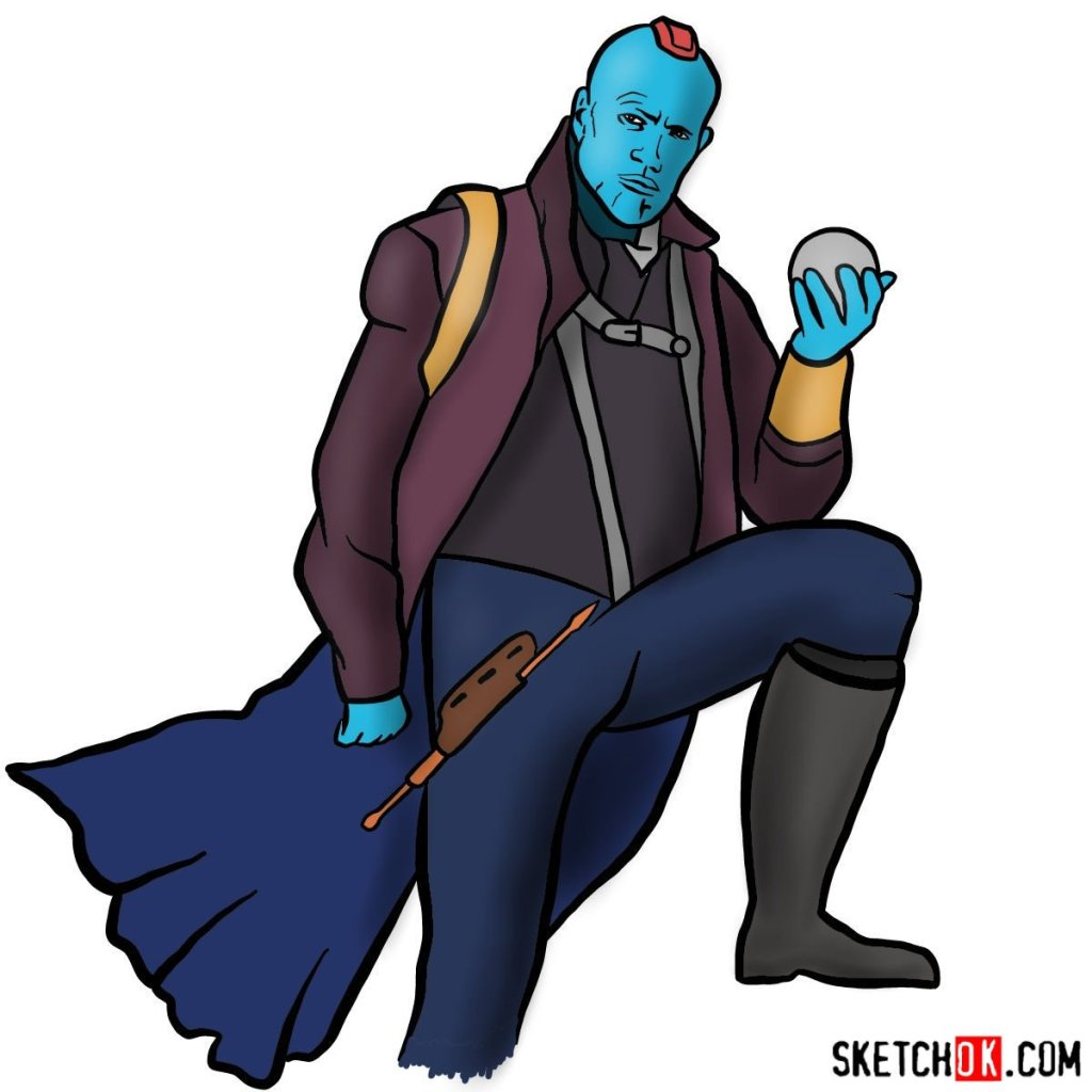 How to draw Yondu Udonta from Guardians of the Galaxy