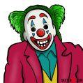 How to draw Joker Clown mask from Joker 2019 film