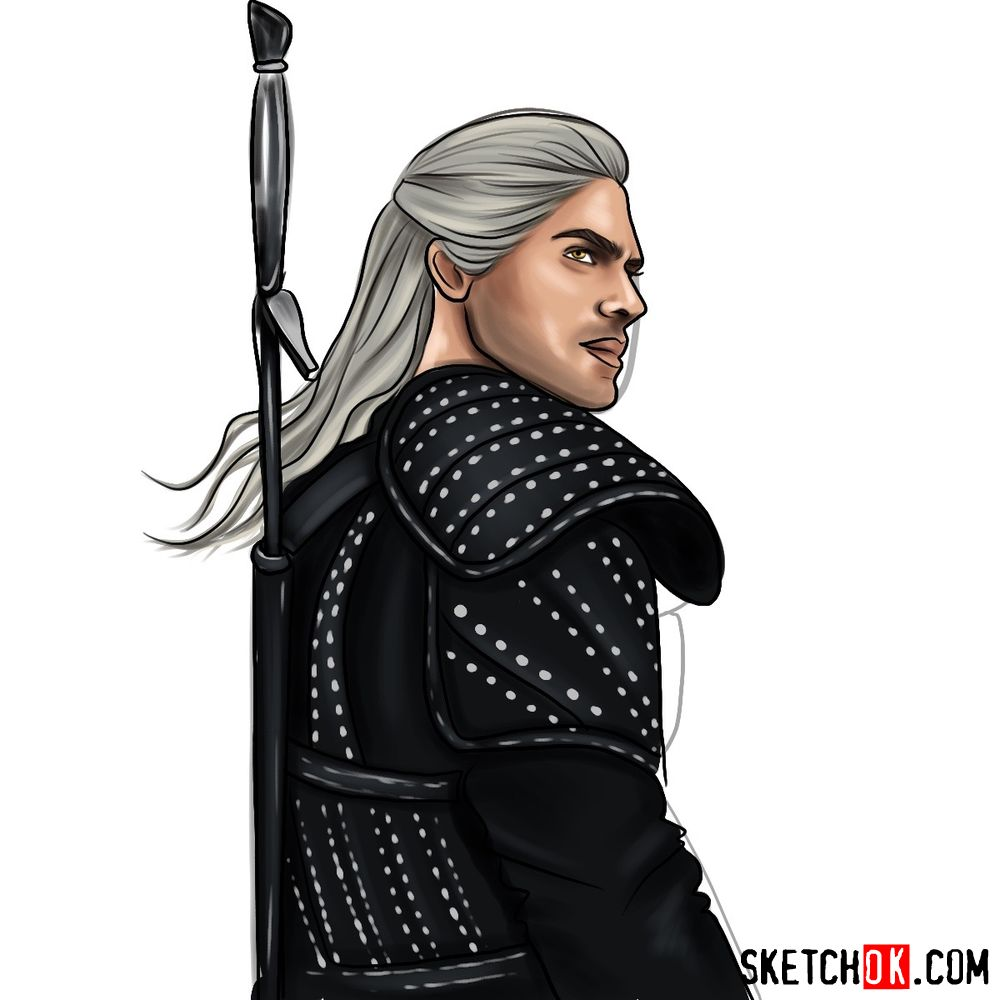 How to draw Geralt from Netflix series