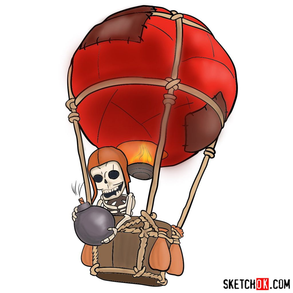 How to draw Balloon with a skeleton