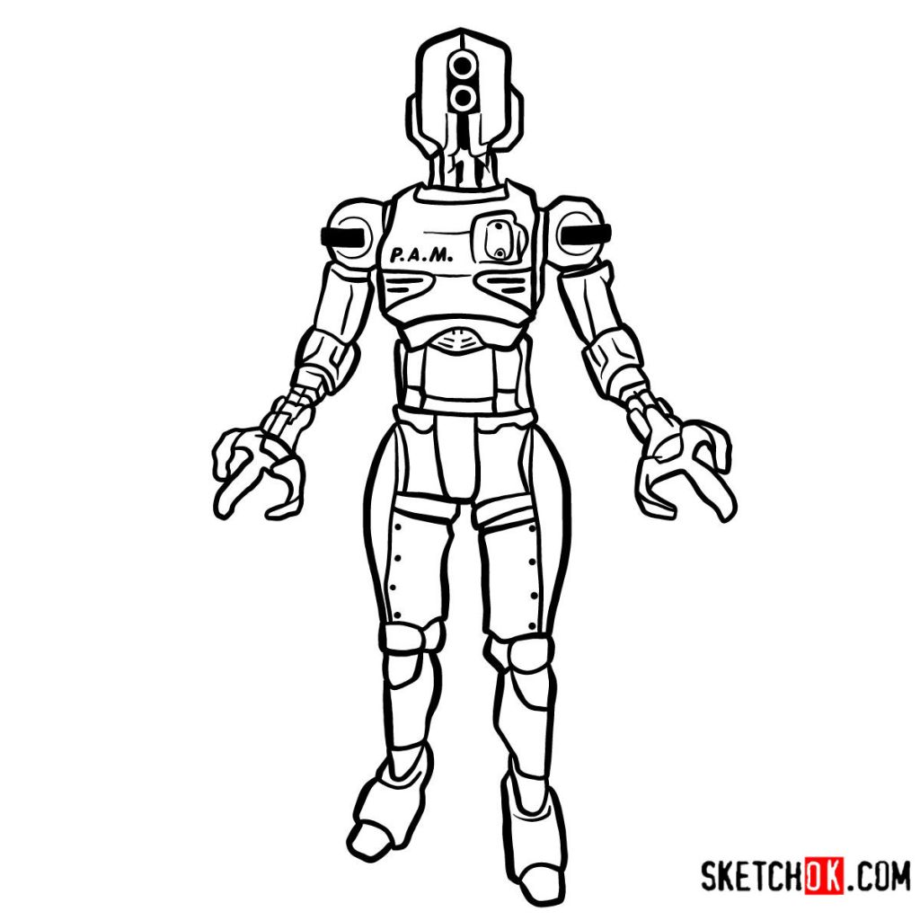How to draw Assaultron | Fallout