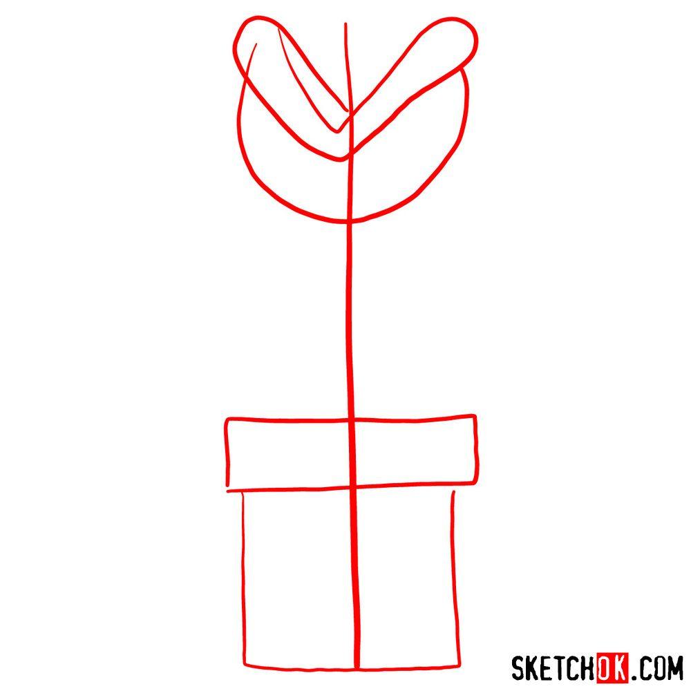 Mario Piranha Drawing Plant Super