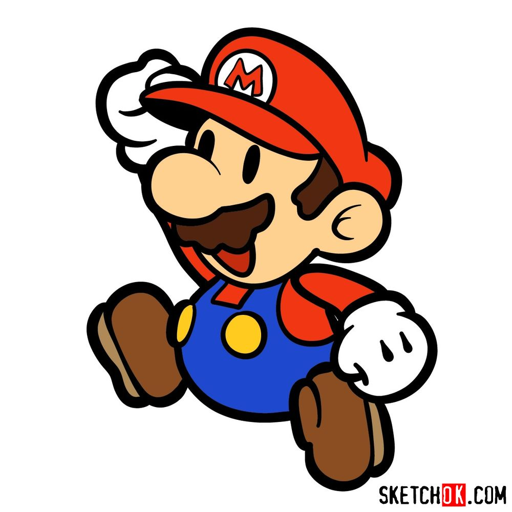How to draw classic 2D Super Mario